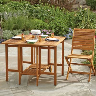 Westerly Acacia Wood Folding Table Bed Bath Amp Beyond