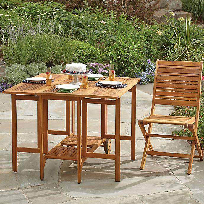 Alternate image 1 for Westerly Acacia Wood Folding Table