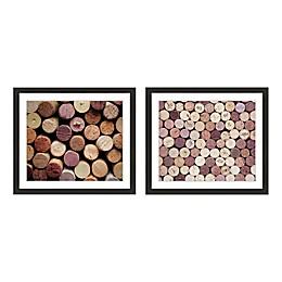 Framed Giclée Wine Corks Print Wall Art Collection