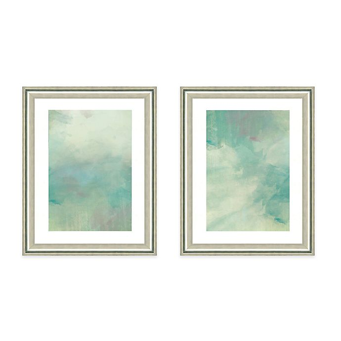 Light Blue Watercolor Framed Art Print   Bed Bath & Beyond