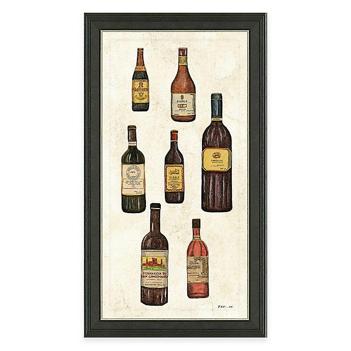 Alternate image 1 for Framed Giclée Wine Bottles Panel I Print Wall Art
