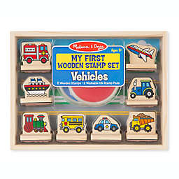 Melissa & Doug® My First Wooden Stamp Vehicles Set