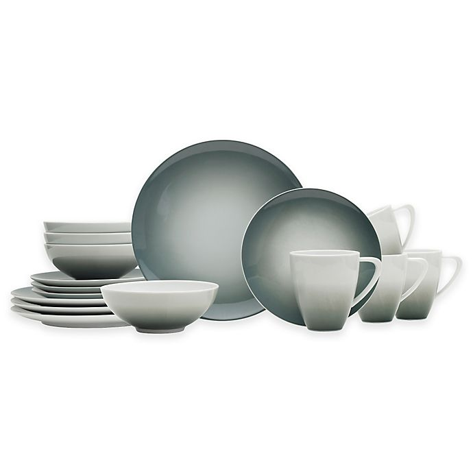 Alternate image 1 for Mikasa® Naya 16-Piece Dinnerware Set in Grey Ombré