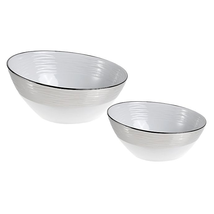 Alternate image 1 for Studio TU® by Tabletops Unlimited® Sterling Teardrop Bowl