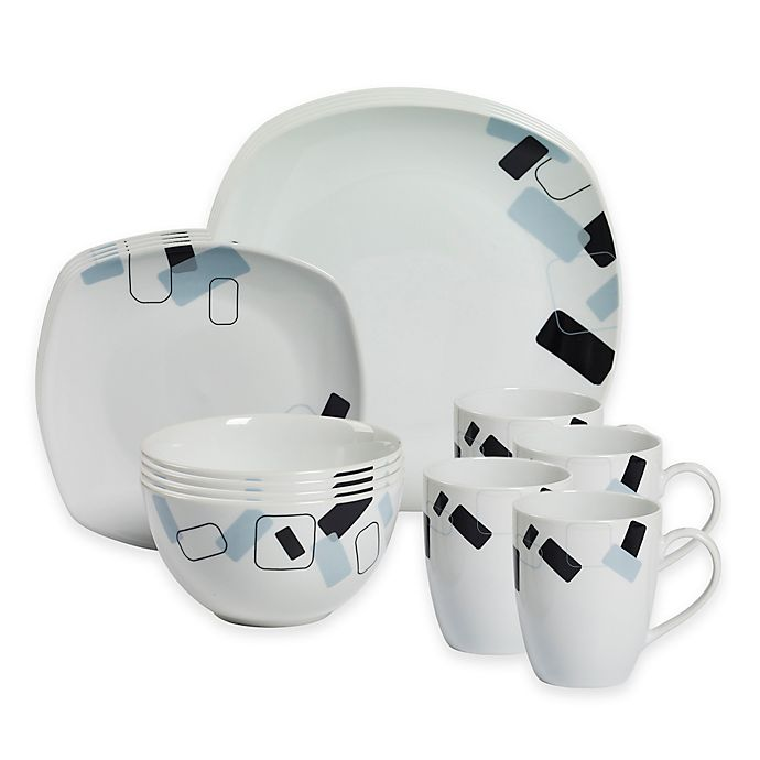 Alternate image 1 for Tabletops Gallery® Dean 16-Piece Square Dinnerware Set