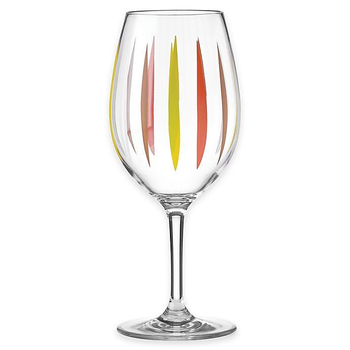 4112bc276d8 Dansk® The Burbs Acrylic Wine Glass in Clear/Multi | Bed Bath & Beyond