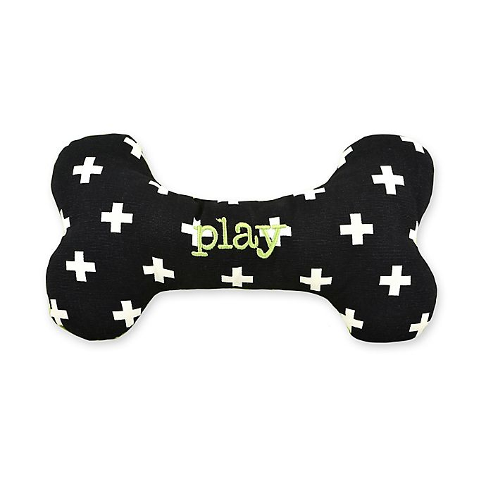 Alternate image 1 for Territory® Modern Small Squeaker Bone Dog Toy in Black
