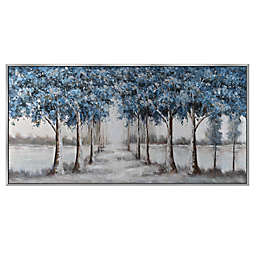 Blue Forest Trees 30-Inch x 60-Inch Canvas Wall Art
