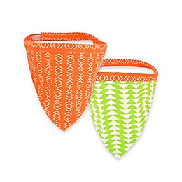 Territory® Modern Reversible Dog Bandana in Orange/Green