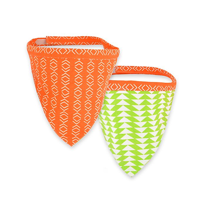 Alternate image 1 for Territory® Modern Reversible Dog Bandana in Orange/Green