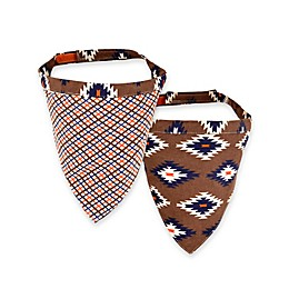 Territory® Modern Reversible Dog Bandana in Brown/Blue/White/Orange
