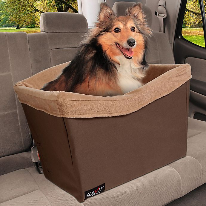 Alternate image 1 for Solvit® Tagalong™ Standard Pet Safety Seat in Brown