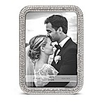Arte De Casa Crystal 5-Inch x 7-Inch Picture Frame in Silver