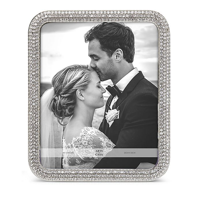 Alternate image 1 for Arte De Casa Crystal 8-Inch x 10-Inch Picture Frame in Silver