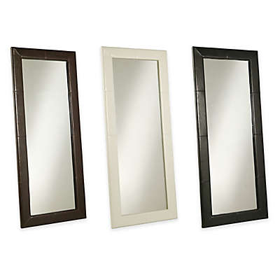 Abbyson Living® 30-Inch x 70-Inch Delano Leather Floor Mirror