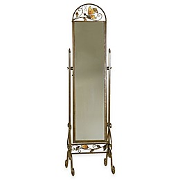 19-Inch x 71.5-Inch Butterfly Cheval Floor Mirror