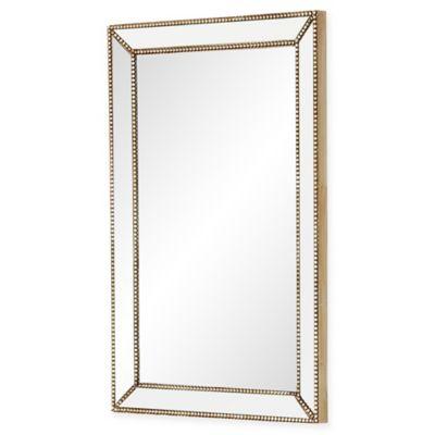 Abbyson living cosmo rectangular wall mirror in silver - Silver bathroom mirror rectangular ...