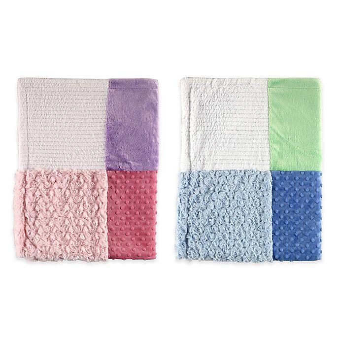 Alternate image 1 for BabyVision® Hudson Baby® Multi-Fabric 12-Panel Blanket