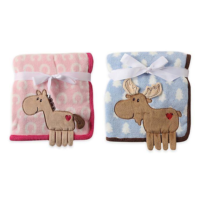 Alternate image 1 for BabyVison® Hudson Baby® Coral Fleece 3-D Animal Blanket