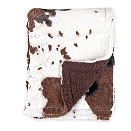 Tadpoles™ by Sleeping Partners Cowhide Print Double-Sided Plush Blanket