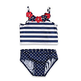 Baby Buns 2-Piece Americana Swimsuit in Red/White/Blue