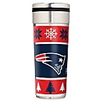 NFL New England Patriots 22 oz.  Ugly Sweater  Stainless Steel Travel Tumbler