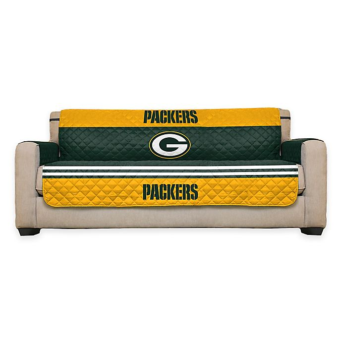 Excellent Nfl Green Bay Packers Sofa Cover Bed Bath Beyond Short Links Chair Design For Home Short Linksinfo