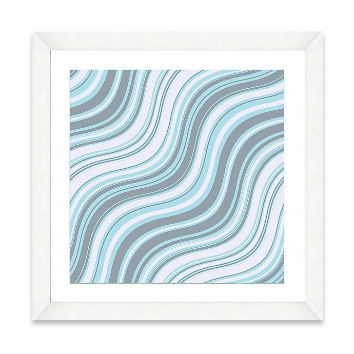 Alternate image 1 for Blue Wave Pattern I Framed Art Print
