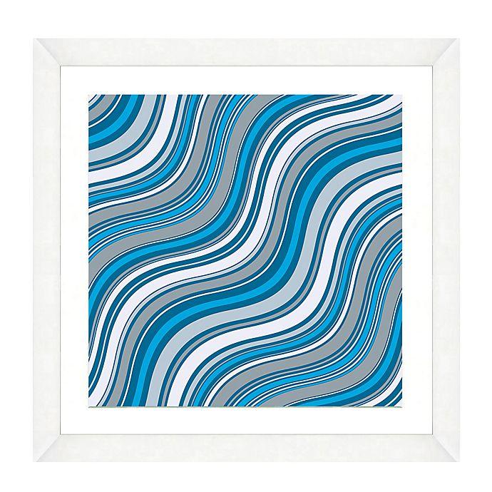 Alternate image 1 for Blue Wave Pattern II Framed Art Print
