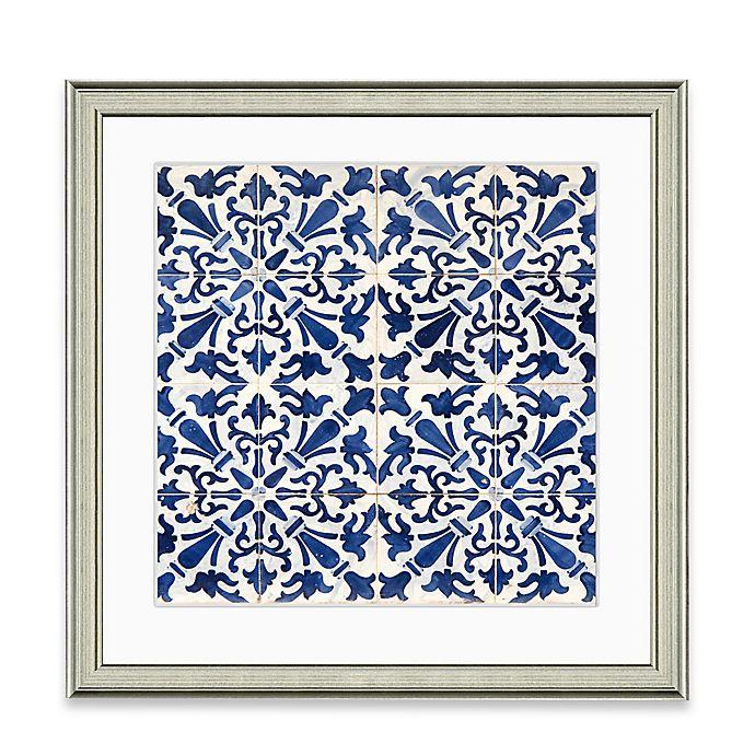 Alternate image 1 for Blue Tile Pattern I Framed Art Print