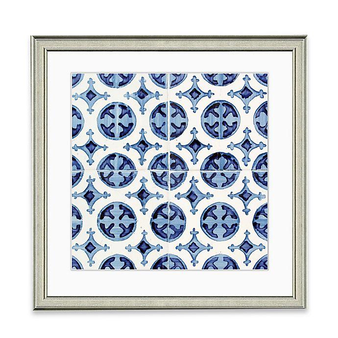 Alternate image 1 for Blue Tile Pattern II Framed Art Print