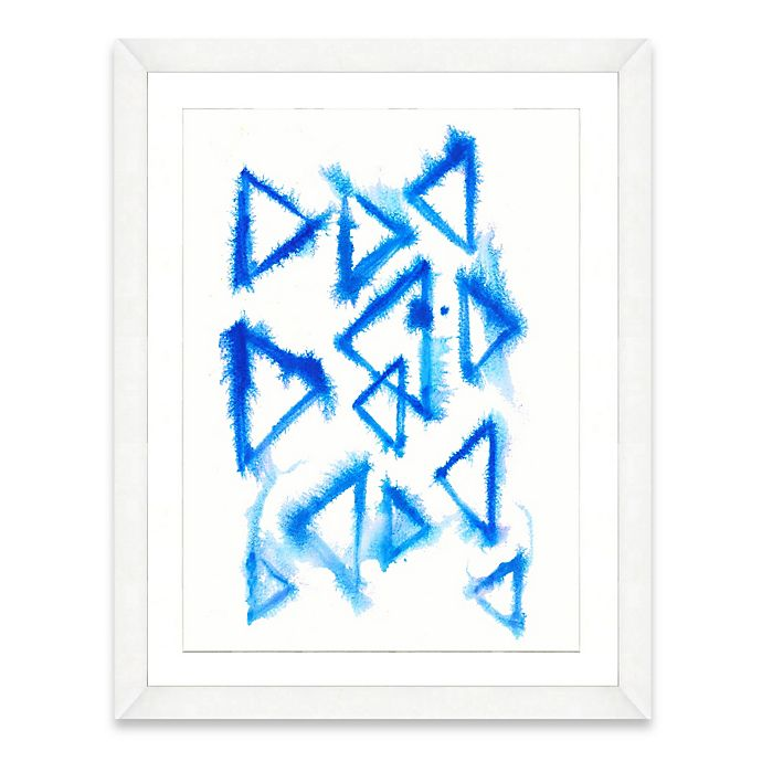 Alternate image 1 for Framed Giclée Watercolor Triangle Print Wall Art
