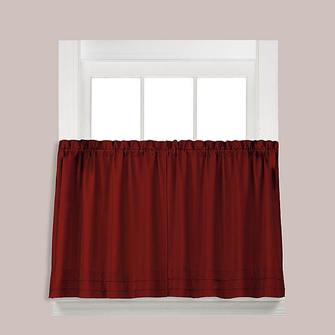 Alternate image 1 for SKL Home Holden 2-Pack 24-Inch Rod Pocket Window Curtain Tiers in Garnet