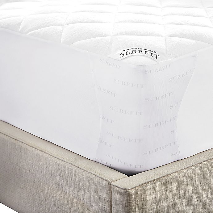 Alternate image 1 for Sure Fit® Deluxe Reversible Twin Mattress Pad