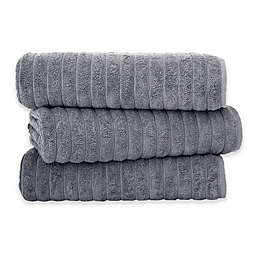 Classic Turkish Towels Turkish Cotton Ribbed Bath Sheets (Set of 3)