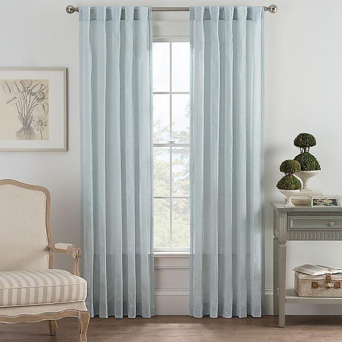 Alternate image 1 for Bayport Fringe 108-Inch Rod Pocket/Back Tab Window Curtain Panel in Seafoam