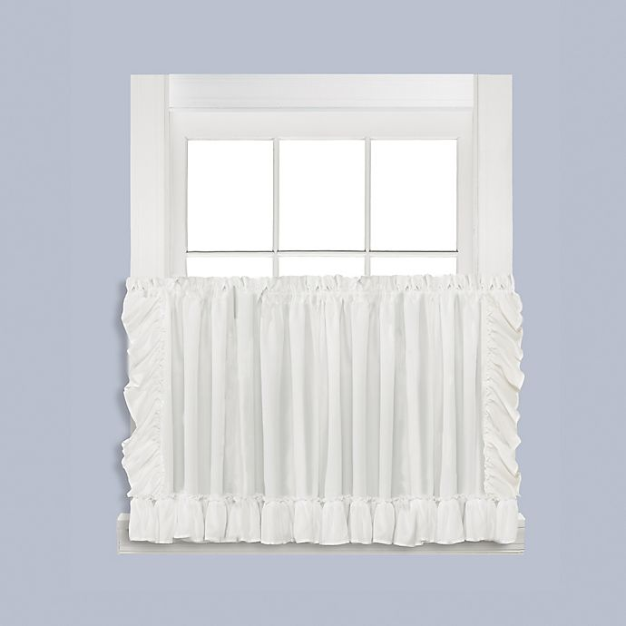 Alternate image 1 for Sarah 36-Inch Window Curtain Tier Pair in White