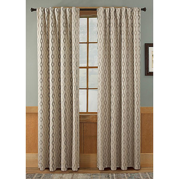 Alternate image 1 for Tempe 63-Inch Rod Pocket/Back Tab Window Curtain Panel in Taupe