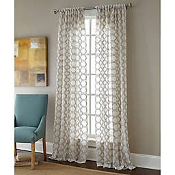 Sherry Kline Contempo Rod Pocket Embroidered Sheer Window Curtain Panel