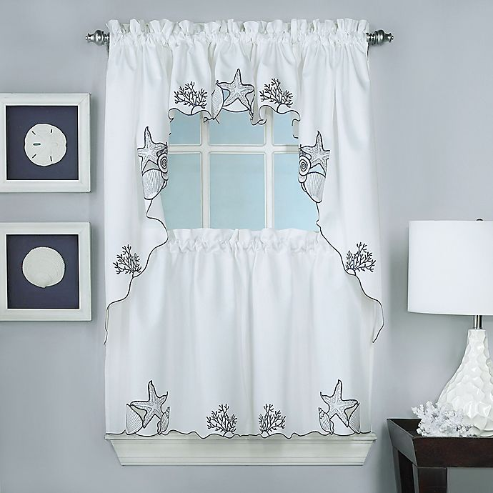 Biscayne Window Curtain Panel And Valance Collection