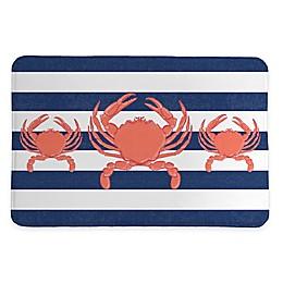 Laural Home® 20-Inch x 30-Inch Crab Stripe Memory Foam Rug