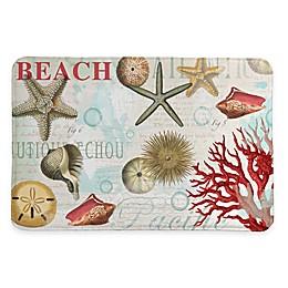 Laural Home® 20-Inch x 30-Inch Dream Beach Shells Memory Foam Rug