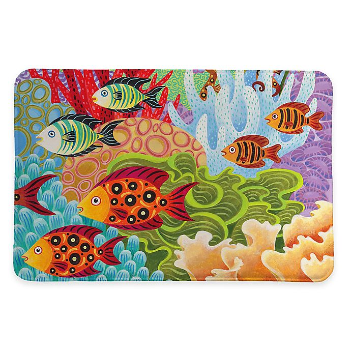 Alternate image 1 for Laural Home® 20-Inch x 30-Inch Fish in the Hood Memory Foam Rug