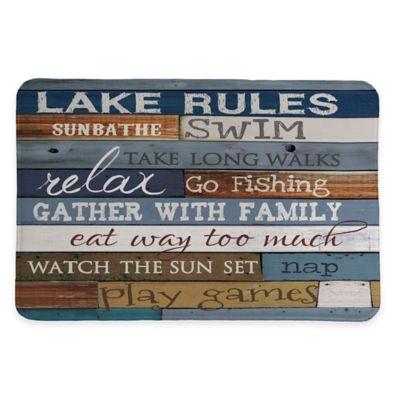 Laural Home Lake Rules 20 Inch X 30 Inch Memory Foam Bath