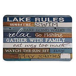 Laural Home Lake Rules 20-Inch x 30-Inch Memory Foam Bath Mat