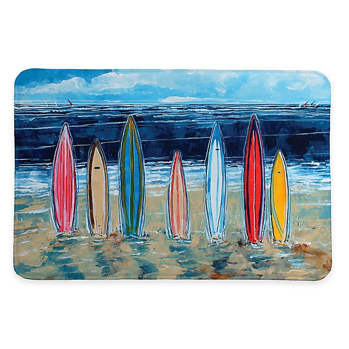 Alternate image 1 for Laural Home® 20-Inch x 30-Inch Surfboards Memory Foam Rug