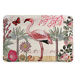 Laural Home® 20-Inch x 30-Inch Botanical Flamingo Memory Foam Rug