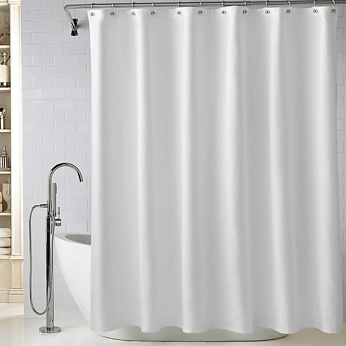 WamsuttaR Diamond Matelasse Shower Curtain In White