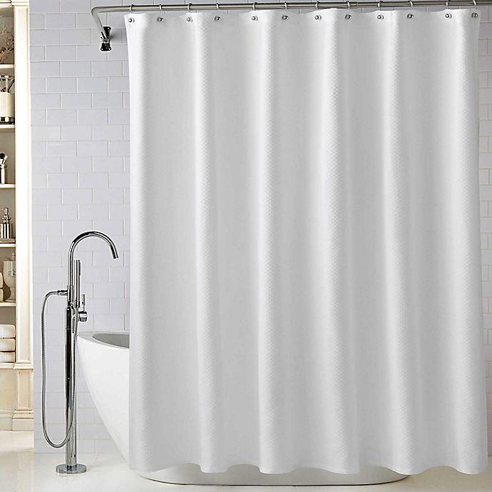 Alternate image 1 for Wamsutta Diamond Matelasse Shower Curtain