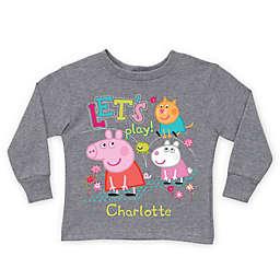 "Peppa Pig ""Let's Play!"" Long Sleeve T-Shirt in Grey"